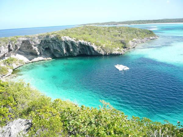 Dean Blue Hole Long Island Bahamas