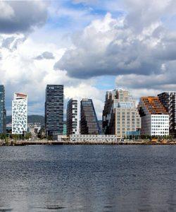 Città di oslo, veduta della capitale della Norvegia