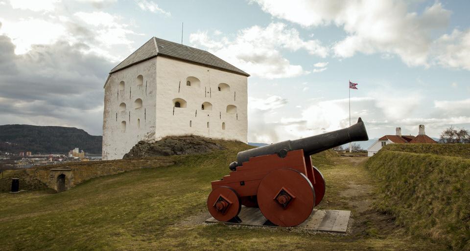 Kristiansen fortress è situato su un colle a est della città di Trondheim