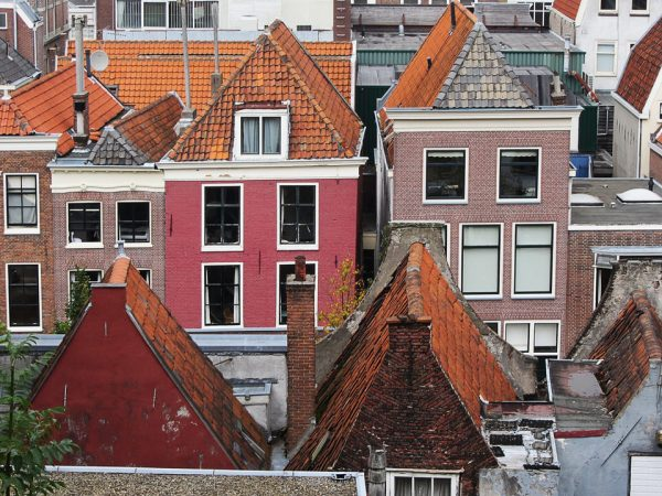 Roofs of houses. Leiden. Nederland