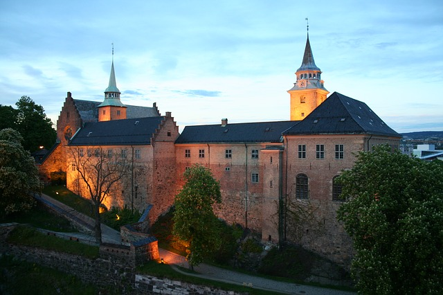 Il castello di Akershus a Oslo. la capitale della Norvegia