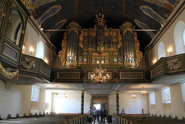 Interno della cattedrale di Oslo in Norvegia
