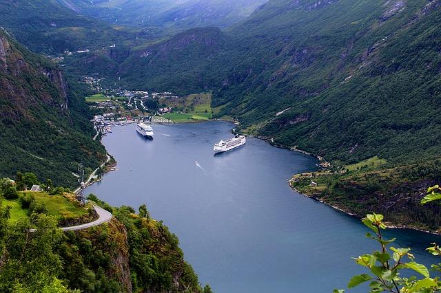 Panoramica di un fiordo Norvegese
