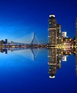 Rotterdam skyline Olanda