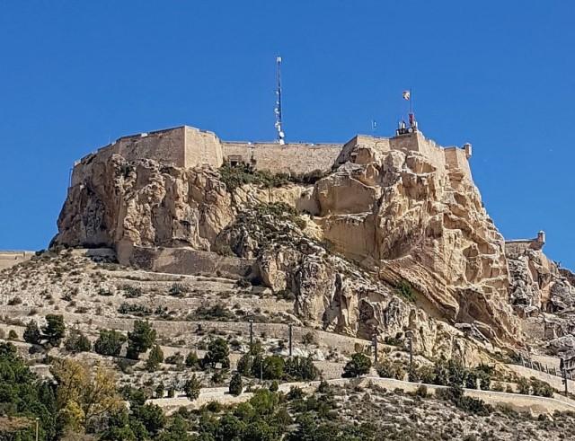 Castello di Santa Barbara ad Alicante in Spagna