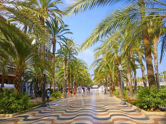 Explanada de Espana Alicante Spagna