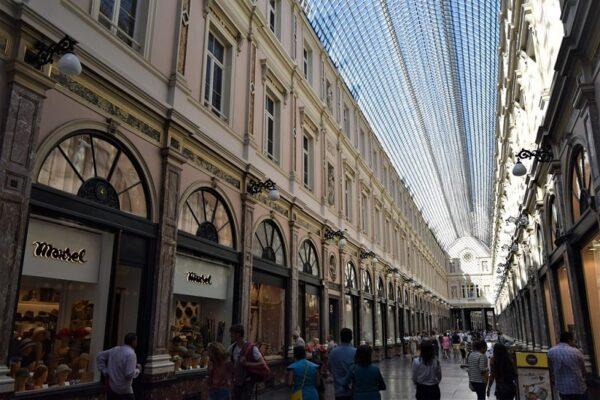Brussels. Les Galeries Royales Saint-Hubert