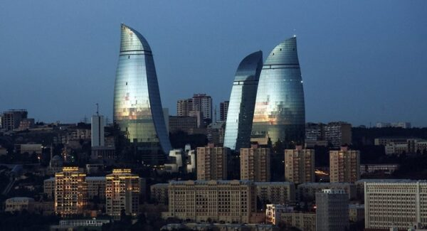 Flame Towers of Baku