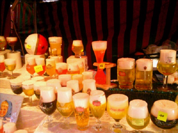 Brussels beer candles